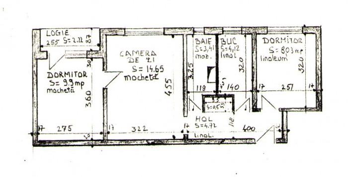 Apartament in Rogerius cu 3 camere  tip X,   pe str. Galileo Galilei