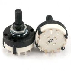 Comutator rotativ 4 pozitii, 38x28mm - 125522