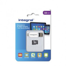Card de memorie Integral 32GB Micro SDHC Clasa 10 UHS-I + OTG Reader