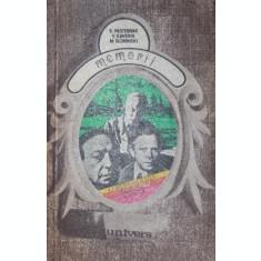 MEMORII - B . PASTERNAK , V . KAVERIN , M . SLONIMSKI