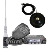 Pachet statie radio CB Avanti Supremo cu antena Hermes si baza 145 PL