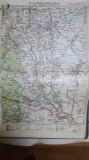 Harta Focșani, Tecuci, Bârlad, Adjud, Stănișești,Grivița, Slobozia, 1928