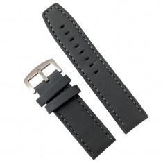 Curea de ceas din piele ecologica gri - 24mm WZ2859