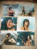Set 6 Fotografii Film Rambo I -1982 cu Sylvester Stallone , dim.=30x24 cm