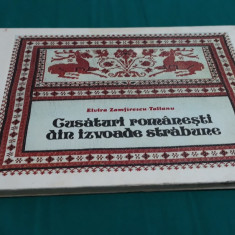 CUSĂTURI ROMÂNEȘTI DIN IZVOADE STRĂBUNE/ ELVIRA ZAMFIRESCU TALIANU/ 1980