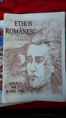 REVISTA ETHOS ROMANESC ANUL I NR 2 IUNIE ANUL 2001 foto