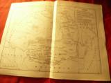 Harta istorica - Marea rascoala a taranilor din 1907 ,dim.= 29x22 cm