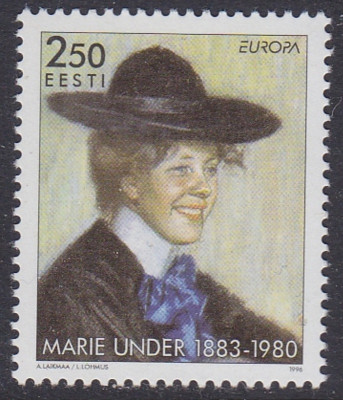 Estonia 1996 Europa CEPT Marie Lund Mi.279 MNH AC.375 foto