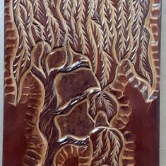 Sculptură tablou salcie plangatoare