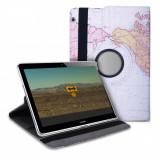 Husa pentru Huawei MediaPad T3 10, Piele ecologica, Multicolor, 43414.15