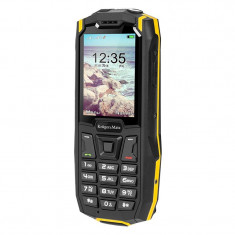 Telefon mobil Rugged Iron 2 Kruger & Matz, Dual-SIM, MicroSD, rezistent la praf si apa, Kruger Matz