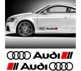 Sticker ornament auto lateral Audi (v1)