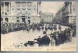 AX 119 CP VECHE INTERBELICA -MILITARA- REGELE SI REGINA ITALIEI LA PARIS 1903, Franta, Necirculata, Printata