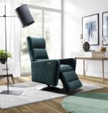 Fotoliu cu mecanism Relax, tapitat cu stofa, Osti Verde, l72xA75xH116 cm