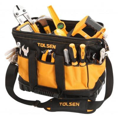 Geanta pentru unelte Tolsen, 16 inch, baza intarita plastic foto