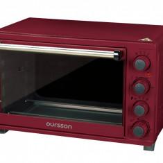 Cuptor electric Oursson MO3020/DC, 30L, 1500W, rotisor, tava pizza, 12 programe, timer, Visiniu