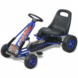 Mașină Go Kart cu scaun reglabil, albastru, vidaXL