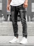 Blugi joggers bărbați negri Bolf KA735
