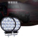 Proiectoare LED Rotunde 42W cu 14 LED uri, Universal