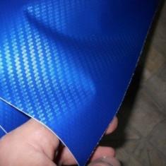 folie carbon de culoare albastra descis 3D la 152CM latime pe 50cm NU FACE BULE