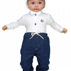 Costum de botez pentru baietei Tuptus-Baby Colibra 97379, Alb-Albastru