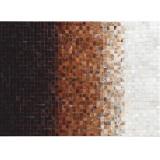 Covor de lux din piele, alb maro negru, patchwork, 170x240, PIELE DE VIT TYP 7