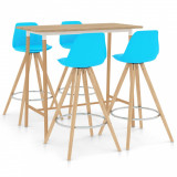 Set mobilier de bar , 5 piese, albastru, vidaXL