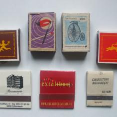 LOT DE 7 CUTII CHIBRITURI ANII 1970-1980