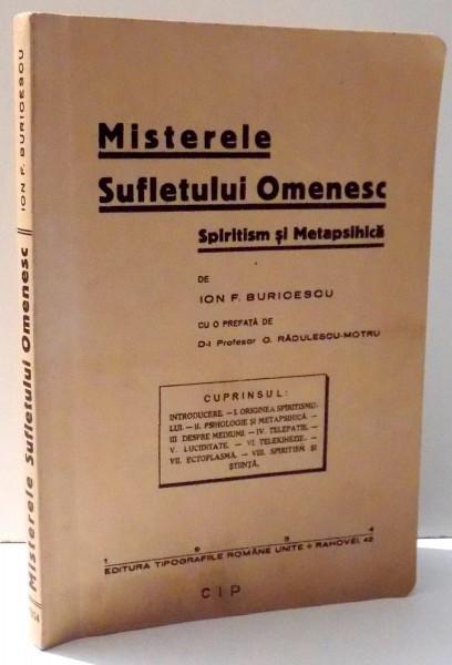 MISTERELE SUFLETULUI OMENESC de ION F. BURICESCU , 2008 EDITIE ANASTATICA*