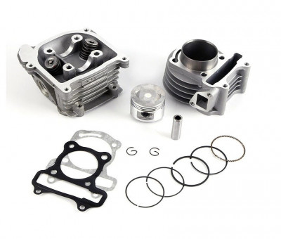 Kit Cilindru Set Motor + Chiuloasa Scuter Kymco - Kimco 4T 49cc 50cc 39mm foto