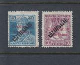 ROMANIA 1919 OCUPATIA FRANCEZA KARL ZITA KOSTARSASAG AUTENTIFICARE MNH