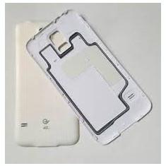 Pachet Capac spate Samsung Galaxy S5 G900F original alb negru + folie sticla