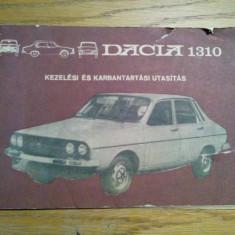 DACIA 1310 * Kezelesi es Karbantartasi Utasitas - 1310 Limusin L, LS., Combi