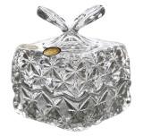 Caseta cristal cu capac si maner in forma de fluture,Cod Produs:683