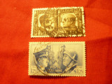 2 Timbre Italia 1941 Hitler si Mussolini , val.: 10C si 1,25L stampilate, Stampilat