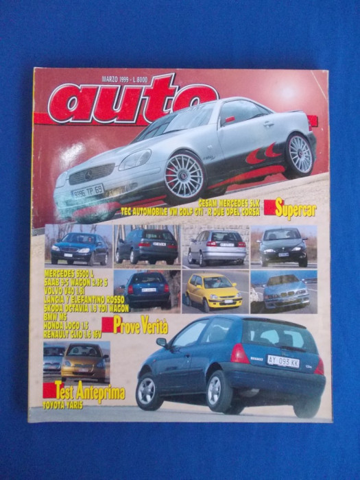 REVISTA AUTO ( IN ITALIANA ) , NR. 3 ( MARTIE ) / 1999