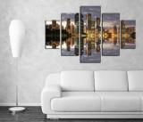 Tablou decorativ multicanvas Destiny, 5 Piese, Peisaj, 247DST2926, Multicolor