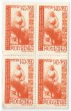 România, LP 204/1946, Fed .Dem. a Fem. din România, bloc de 4, eroare 1, MNH