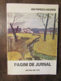 Ion Popescu-Negreni - Pagini de jurnal (cu dedicația și autograful pictorului)