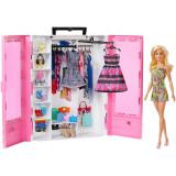 Cumpara ieftin Set de joaca Barbie Fashionistas - Dulapior cu haine si papusa