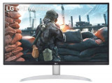 Monitor IPS LED LG 27inch 27UP650-W, UHD (3840 x 2160), HDMI, DisplayPort, Pivot (Alb/Argintiu)