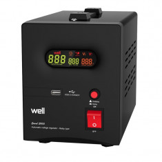 Cumpara ieftin Stabilizator automat cu releu Well, 2000 VA
