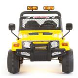 Masinuta electrica 12V cu roti din cauciuc Drifter Jeep 4x4 Galben