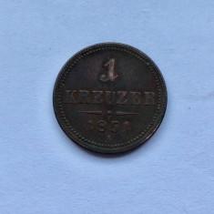 MONEDA 1 Kreuzer 1851 Austria