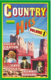Caseta  Country Hits Volume 1 , originala, muzica country