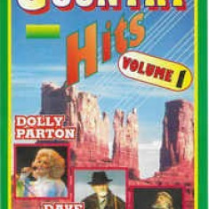 Caseta  Country Hits Volume 1 , originala, muzica country