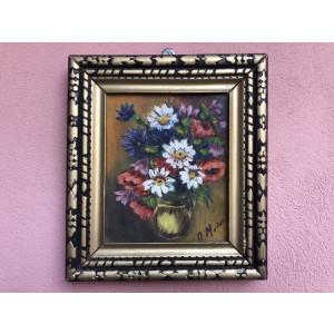 Tablou,pictura,picturi miniaturale  vechi  in ulei ,pe panza