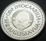 Moneda 100 Dinari - YUGOSLAVIA, anul 1987   *cod 2701   - a.UNC