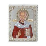 Icoana Argint Sfantul Nicolae 12x15.5cm Cod Produs 2776