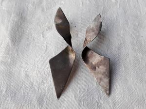CERCEI argint PANGLICA lungi VECHI de efect PATINA MINUNATA